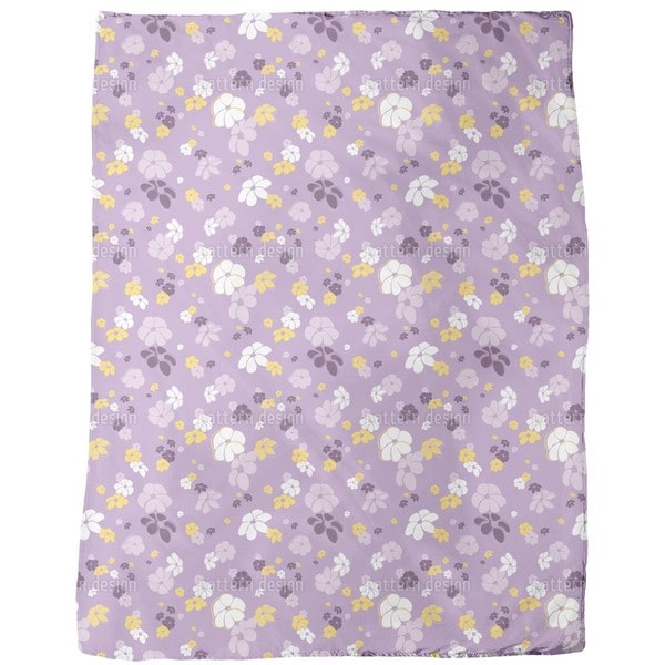 Lilac Flower Rain Fleece Blanket