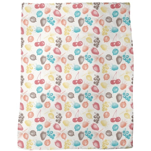 Mixed Berries Fleece Blanket