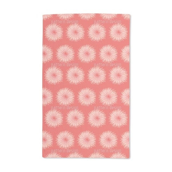 Dahlia Orange Hand Towel (Set of 2)