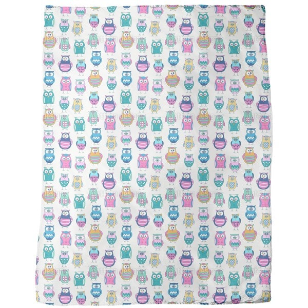 Cartoon Owls Fleece Blanket