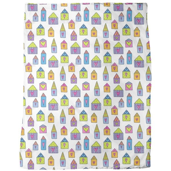 Lovely Houses Fleece Blanket