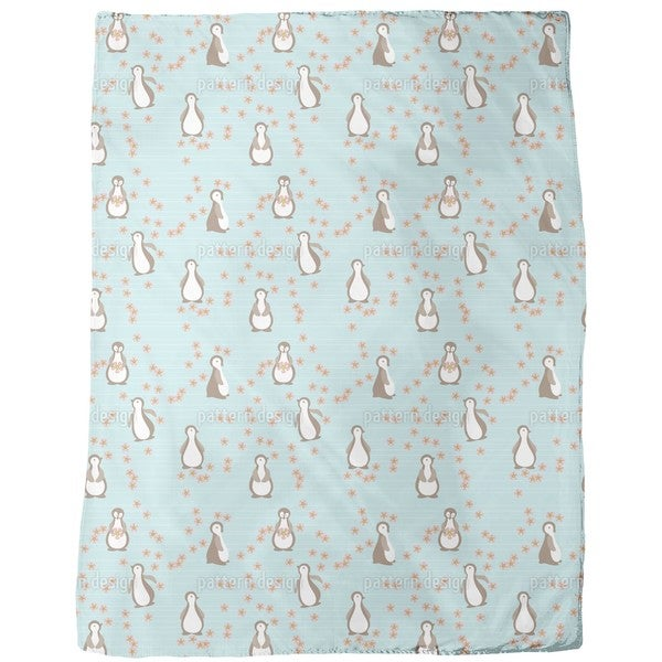 Penguin Blossom Fleece Blanket
