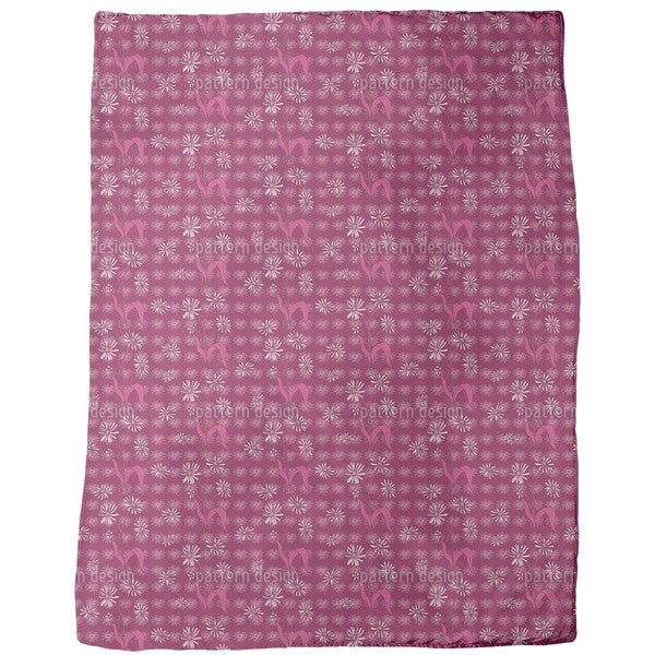 Daisy Flowers Purple Fleece Blanket