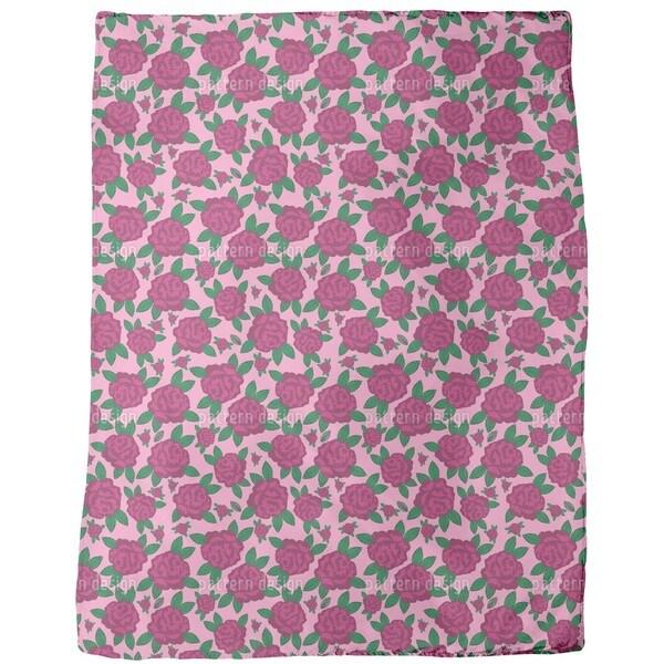My English Rose Fleece Blanket