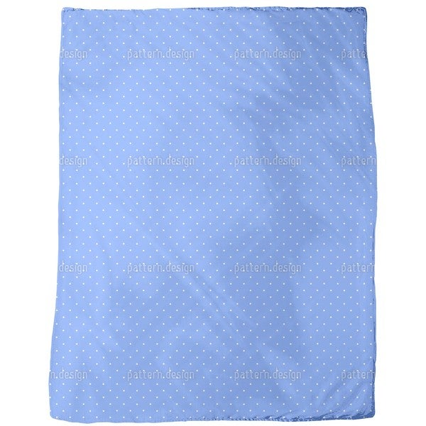 Dots on Blue Fleece Blanket