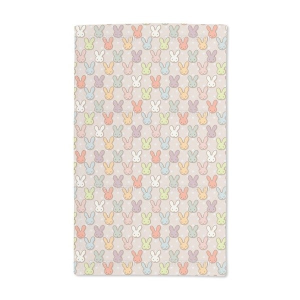 Cute Rabbits Hand Towel (Set of 2)