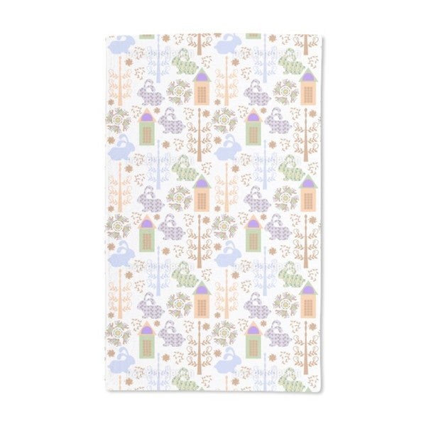 Downtown Bunnies Hand Towel (Set of 2)