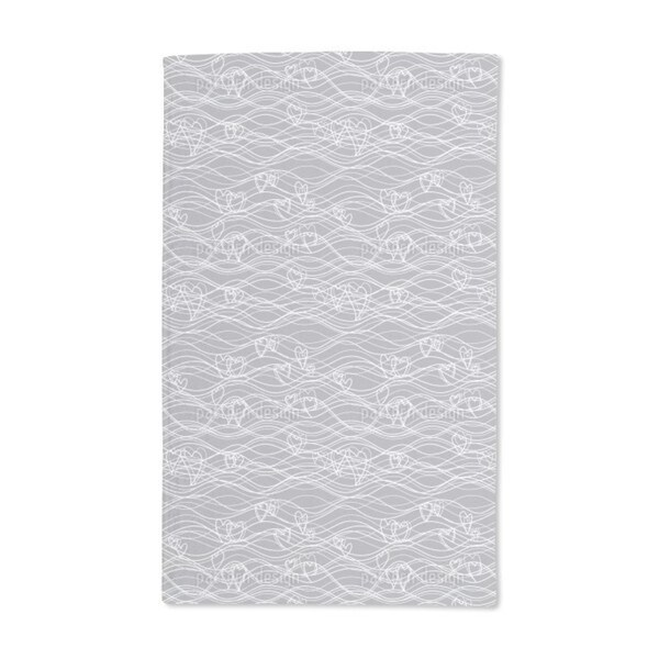 Wavelengths Grey Hand Towel (Set of 2)
