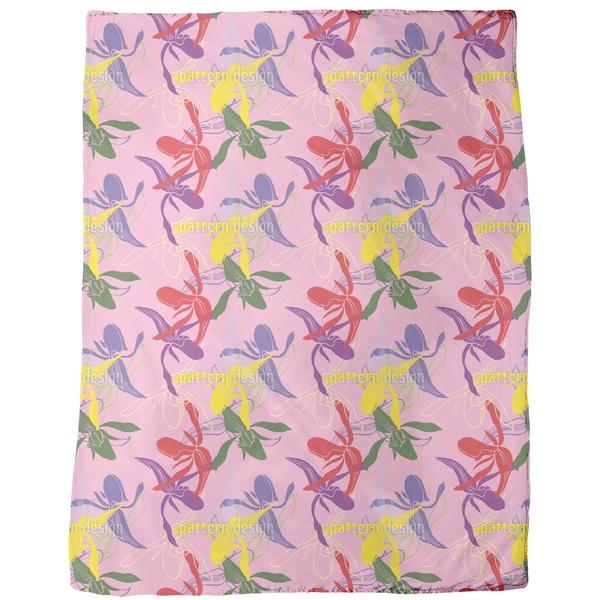 Orchid Color Fleece Blanket