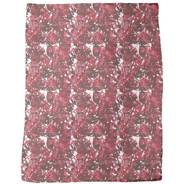 Camouflage Red Fleece Blanket