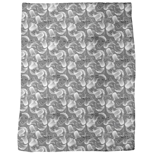 Dolores Dark Grey Fleece Blanket