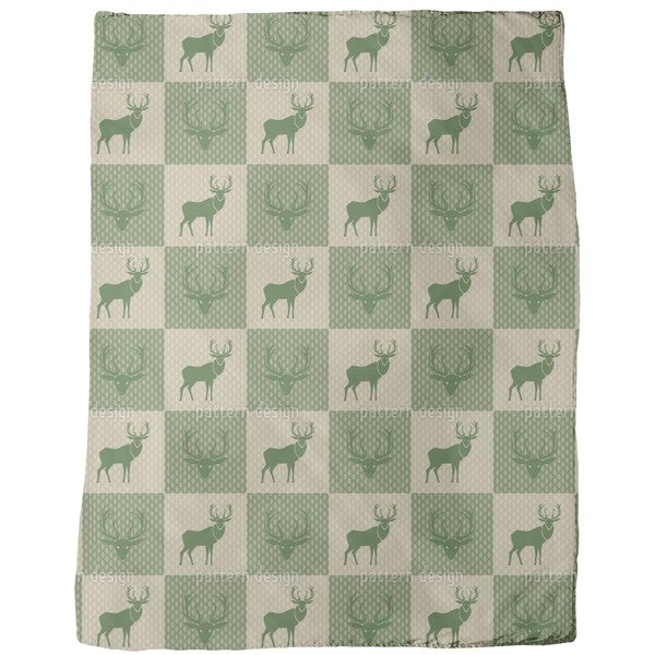 The Forest King Green Fleece Blanket