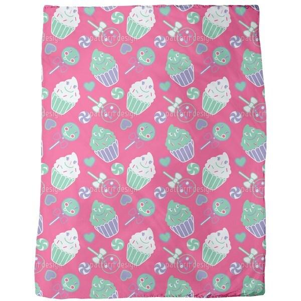 Happy Desserts Pink Fleece Blanket