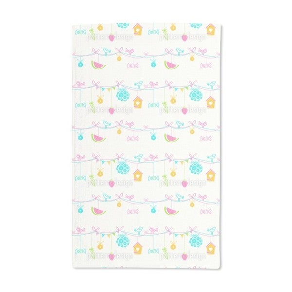 Summer Party in the Garden Hand Towel (Set of 2)