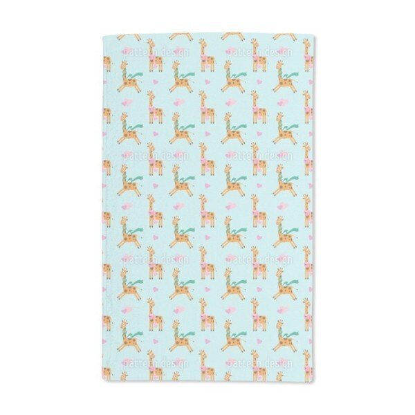 Cute Giraffe Hand Towel (Set of 2) 20581975