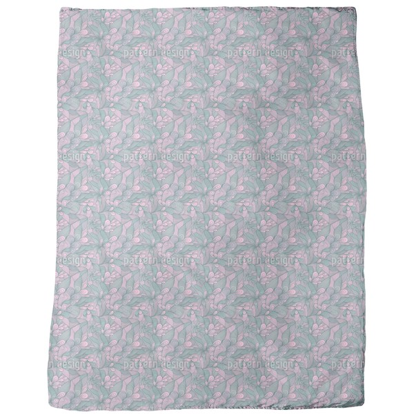 Floral Bonding Fleece Blanket