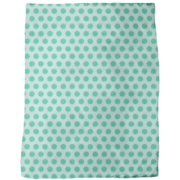 Bonbons Blue Fleece Blanket