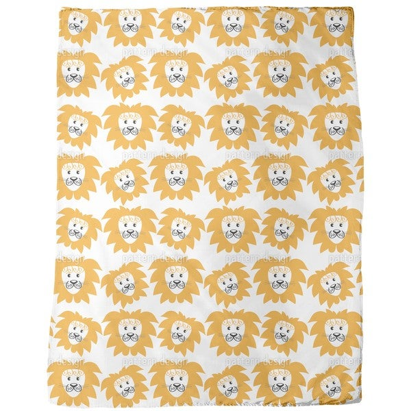 Lion Heads Fleece Blanket