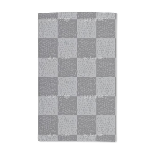 Checkerboard Bows Hand Towel (Set of 2)