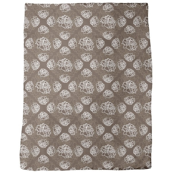 Rose Dream Brown Fleece Blanket