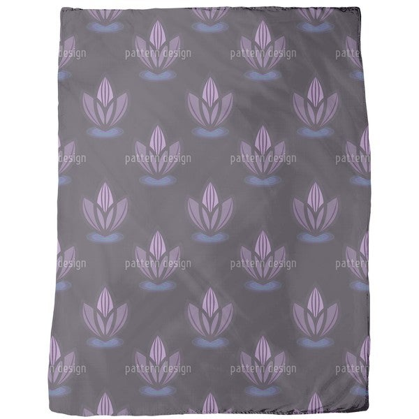 Lotus Lilac Fleece Blanket