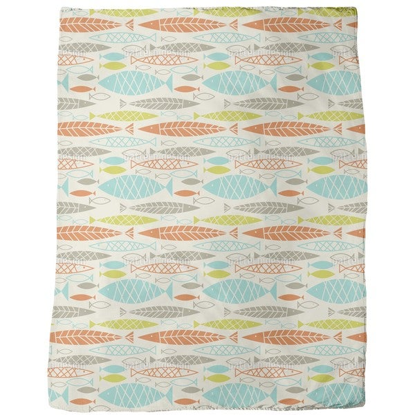 All About Fish Fleece Blanket