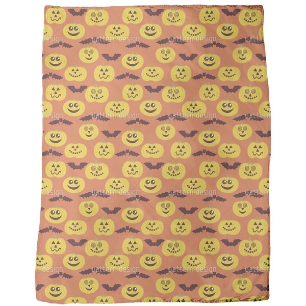 Party Time at Jack O Lantern and Bat Fleece Blanket