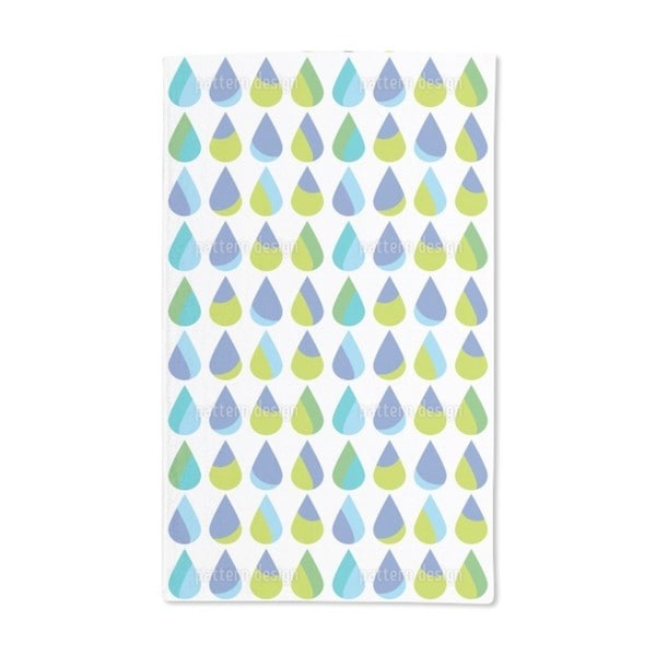 Colorful Extra Large Rain Drops Hand Towel (Set of 2)