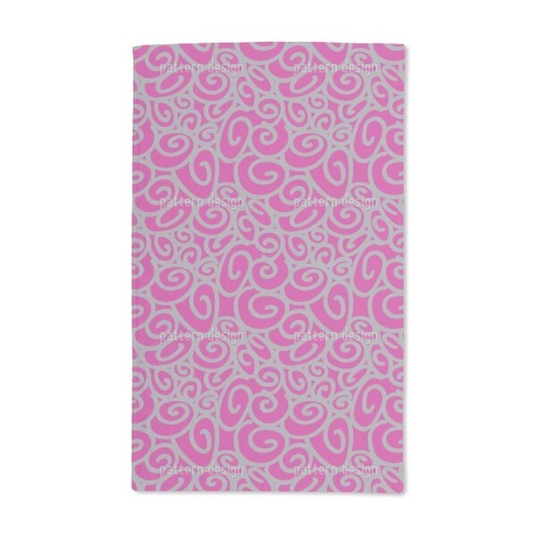 Beginning and End Magenta Hand Towel (Set of 2)