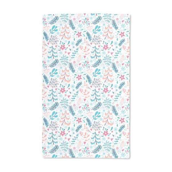 Winter Flowers and Snowflakes Hand Towel (Set of 2) 20582741