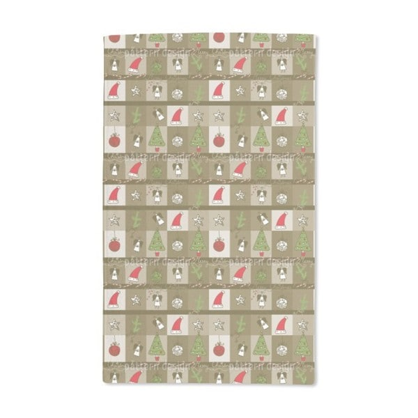 Christmas in a Wooden Box Hand Towel (Set of 2)