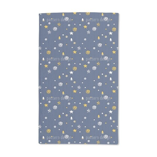 Christmas Decorations Blue Hand Towel (Set of 2)