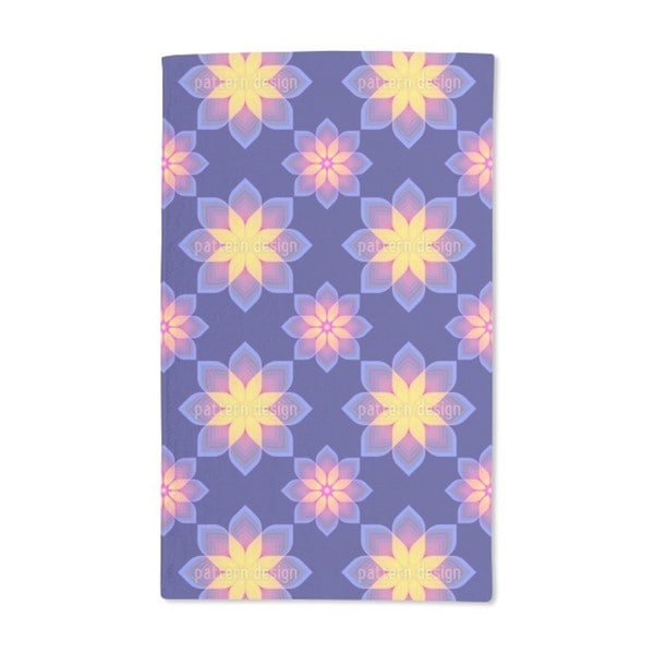 Digital Flowers Hand Towel (Set of 2)