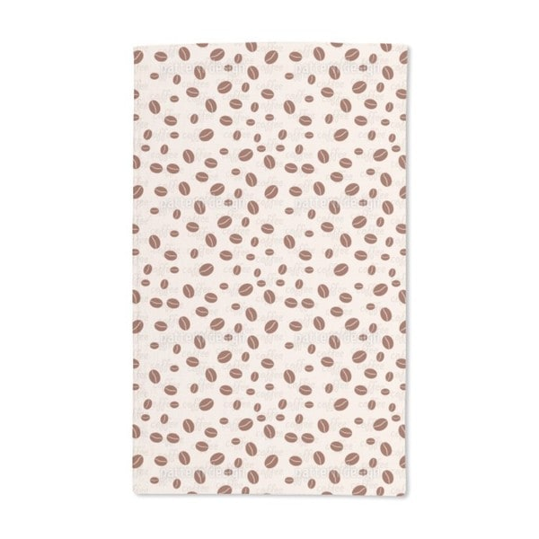 Roasted Coffee Beans Hand Towel (Set of 2)
