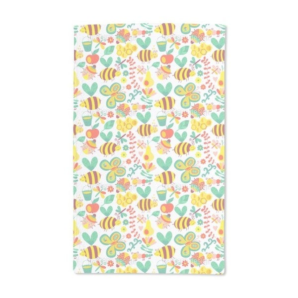 Busy Honey Bees Hand Towel (Set of 2)