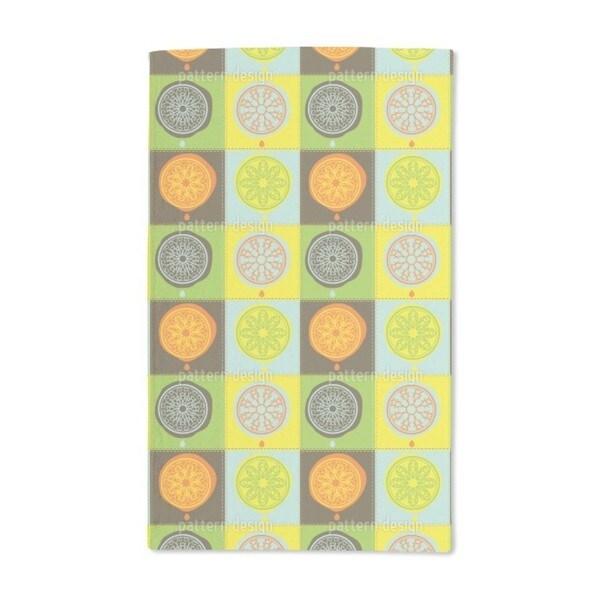 Citrus Patchwork Hand Towel (Set of 2)