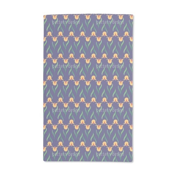 Greeting Tulips Hand Towel (Set of 2)