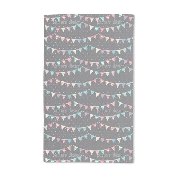 Striped Festoons on Polka Dot Hand Towel (Set of 2)