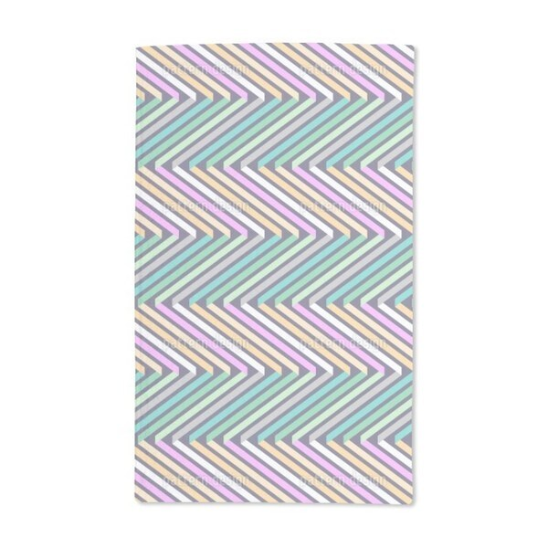 Ribbons in Zig Zag Hand Towel (Set of 2)