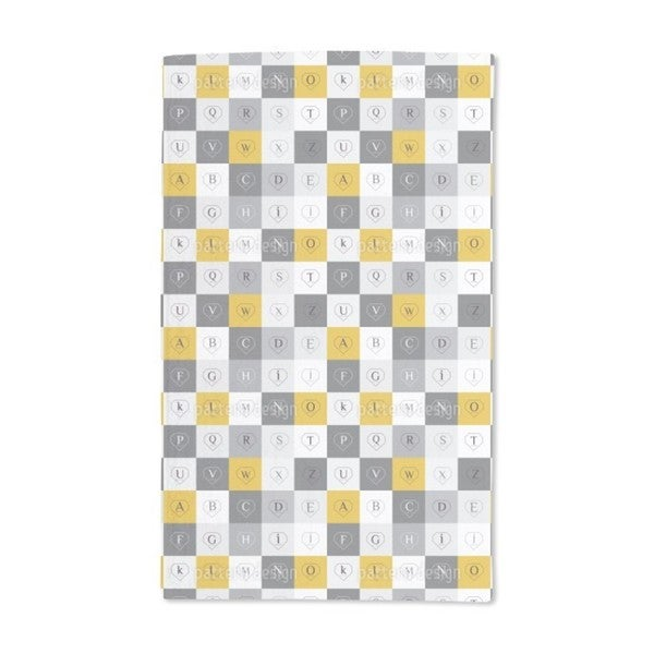 Letters in Diamond Shapes Hand Towel (Set of 2)