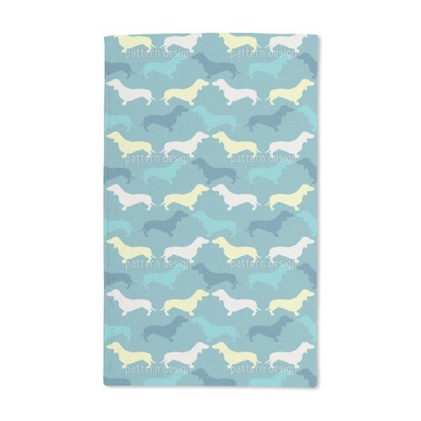 Dachshund Petrol Hand Towel (Set of 2)