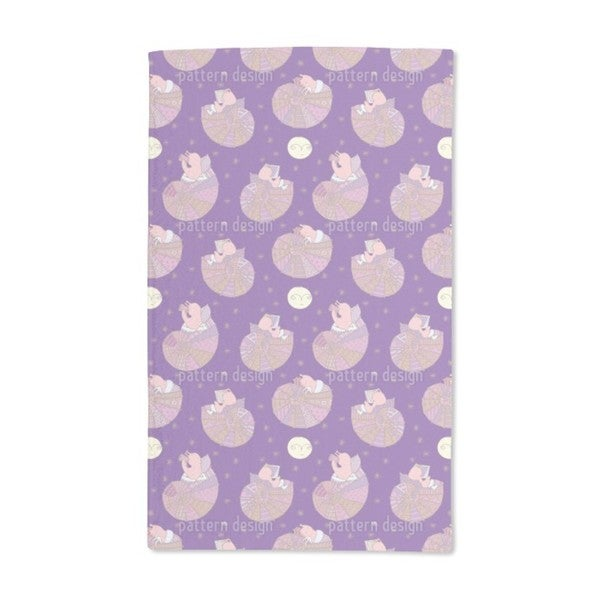 Miss Snail and the Man in the Moon Hand Towel (Set of 2)