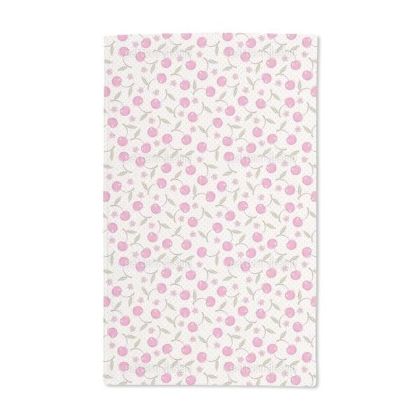 Polka Dot and Cherries Hand Towel (Set of 2)