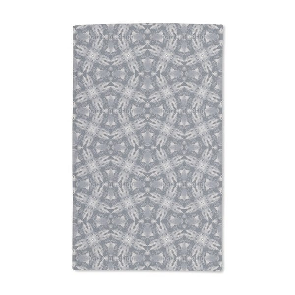 Flora Landing on Grey Hand Towel (Set of 2)