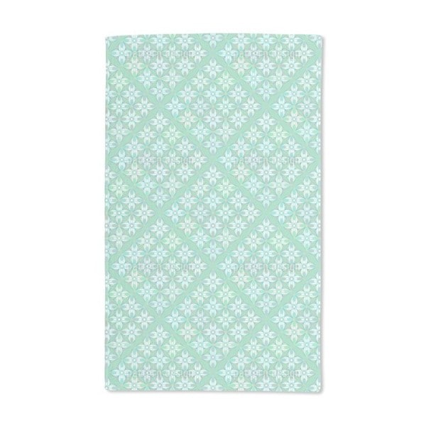 Hydrangea Geometry Hand Towel (Set of 2)