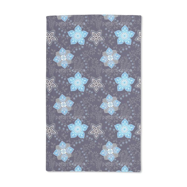 Floral Night Compliments Hand Towel (Set of 2)