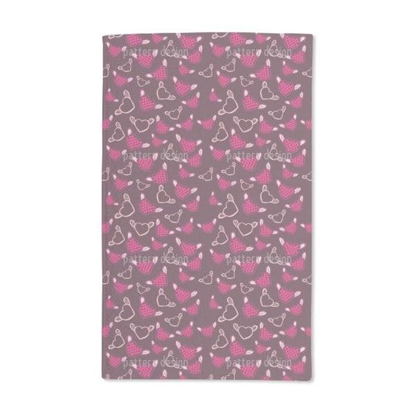 Sweet Fantasy Chess Heart Hand Towel (Set of 2) 20588593