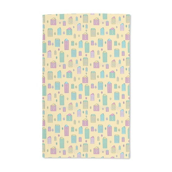 Doodle Houses Hand Towel (Set of 2)