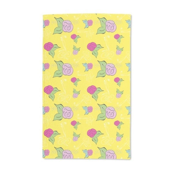 A Rose Is a Rose Hand Towel (Set of 2)