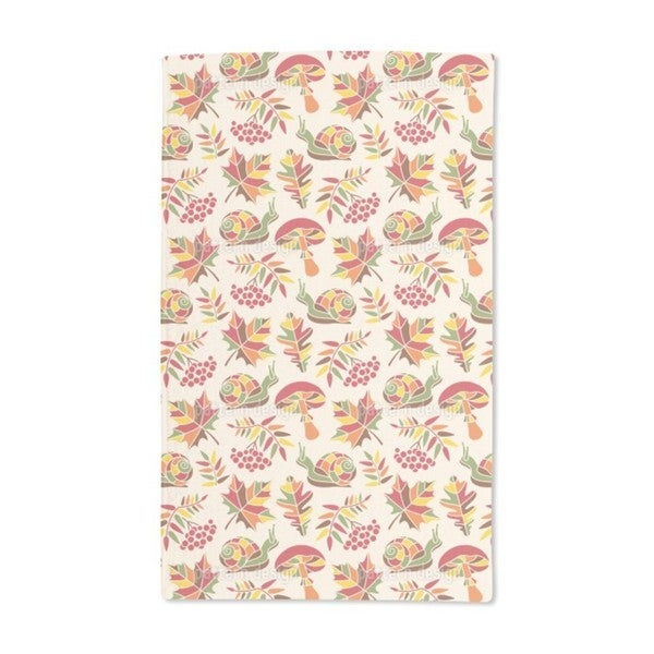 The Snail and the Autumn Hand Towel (Set of 2)